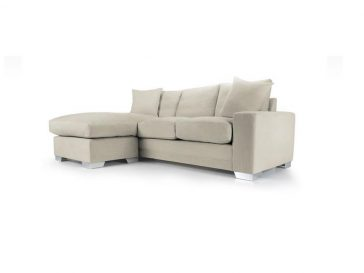 Chelsea Chaise sofa in Senna Marmore fabric 1 at Just British Sofas the luxury sofa experts