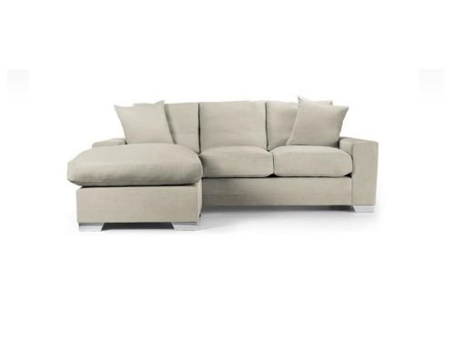 Chelsea Chaise sofa in Senna Marmore fabric 2 at Just British Sofas the luxury sofa experts