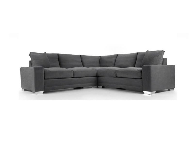 Chelsea Luxury Corner sofa in Senna Grey fabric 1 at Just British Sofas the luxury sofa experts