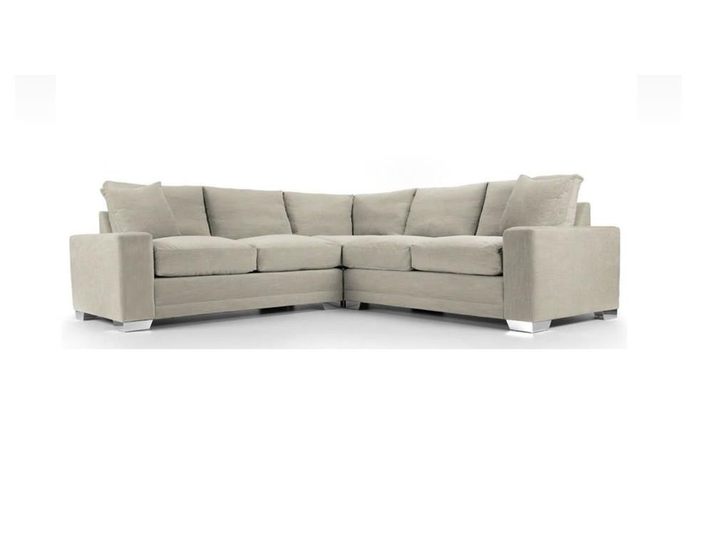 Chelsea Luxury Corner sofa in Senna Marmore fabric 1 at Just British Sofas the luxury sofa experts