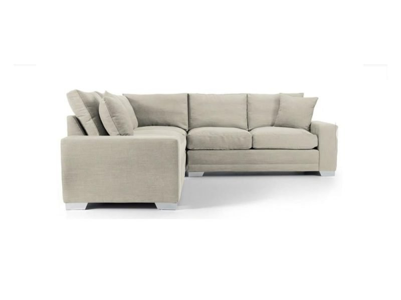 Chelsea Luxury Corner sofa in Senna Marmore fabric 2 at Just British Sofas the luxury sofa experts