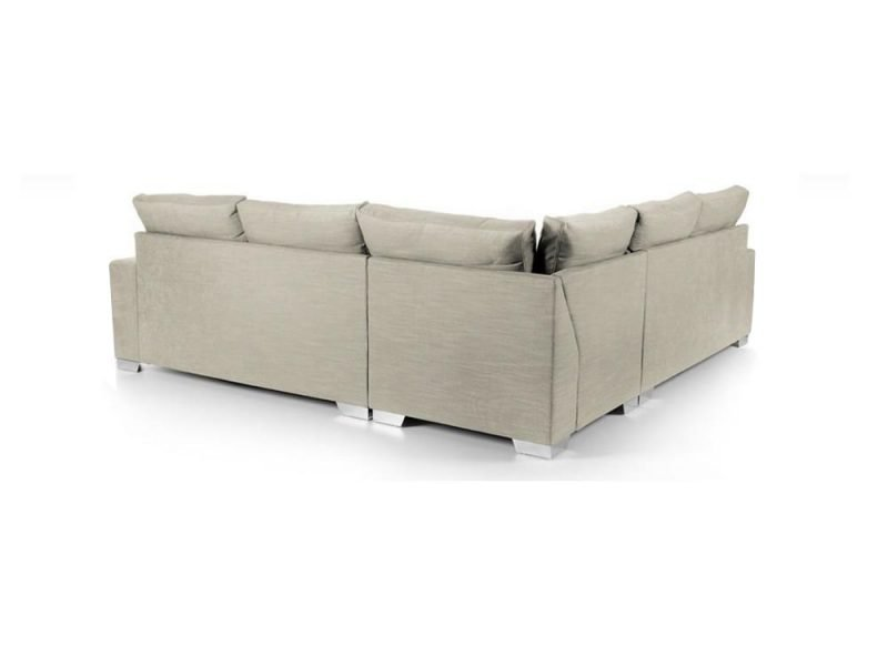 Chelsea Luxury Corner sofa in Senna Marmore fabric 3 at Just British Sofas the luxury sofa experts