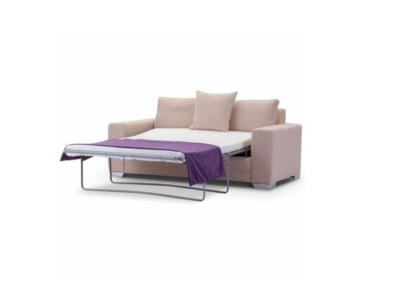 Chelsea Luxury medium sofa bed in Senna Marmore fabric 1 at Just British Sofas the luxury sofa experts