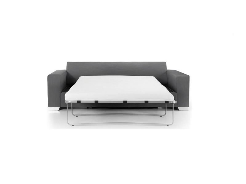 Chelsea Luxury sofa bed in Senna Grey fabric 1 at Just British Sofas the luxury sofa experts