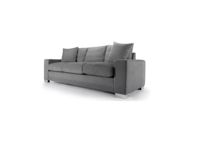Chelsea Luxury sofa in Senna Grey fabric 1 at Just British Sofas the luxury sofa experts