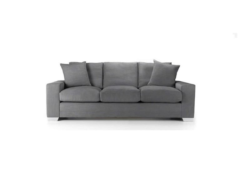 Chelsea Luxury sofa in Senna Grey fabric 2 at Just British Sofas the luxury sofa experts