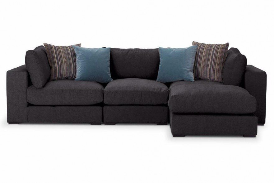 British made Sectional or Modular sofas by Just British Sofas in ebony