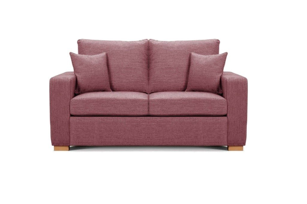 Camberwell 2.5 seater sofa at Just British Sofas in Hot Pink 2