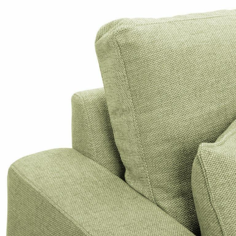 Camberwell chaise sofa at Just British Sofas in Lime 4 a