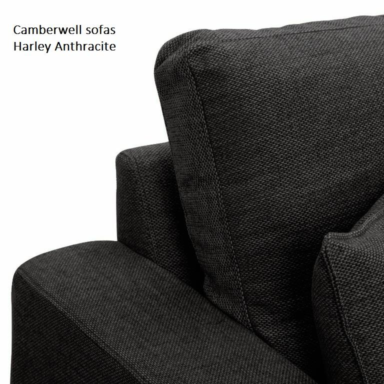 Camberwell chaise sofa in Athracite at Just British Sofas