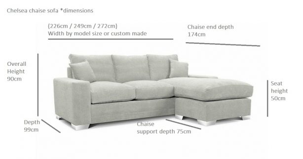 Chelsea-Luxury-Chaise-Sofas-Dimensions-Illustration 1