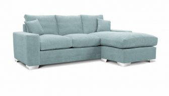 Chelsea chaise sofa in teal