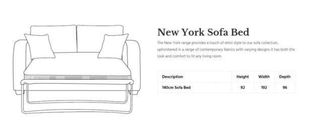 Mark Webster New York Sofa in Blue Grey at Just British Sofas 01932 506558 dimensions 1