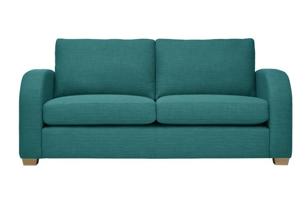 Mark Webster New York Sofa in Aquamarine at Just British Sofas 01932 506558 Image 1