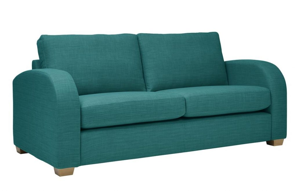 Mark Webster New York Sofa in Aquamarine at Just British Sofas 01932 506558 Image 2