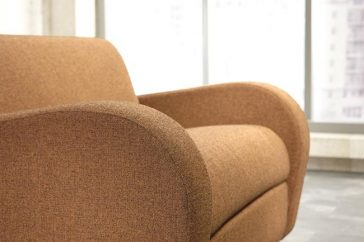 JAYBE CHAIR BED Retro Chair – Arm Detail at Just British Sofas
