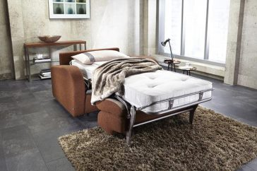 JAYBE CHAIR BED Retro Chair – Bed Dresssed at Just British Sofas