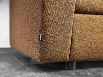 JAYBE CHAIR BED Retro Chair – Label Detail at Just British Sofas