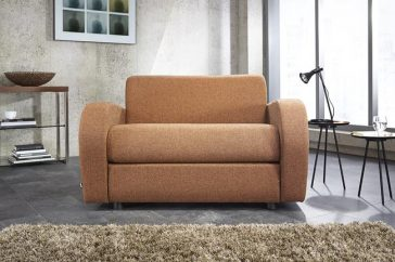 JAYBE CHAIR BED Retro Chair – Sofa Front On at Just British Sofas