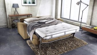 JAYBE Retro 3 Seater - Bed Dressed at Just British Sofas