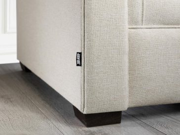 JAYBE SOFA BED Classic Pocket – Label Detail at Just British Sofas the sofa bed experts