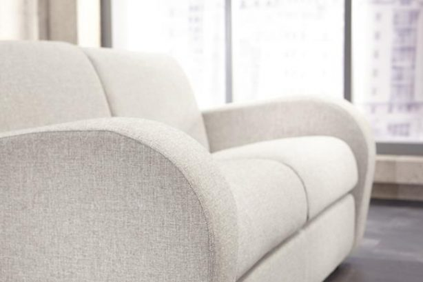 JAYBE SOFA BED Retro 2 Seater - Arm Detail at Just British Sofas