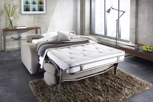 JAYBE SOFA BED Retro 2 Seater - Bed Dressed at Just British Sofas