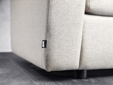 JAYBE SOFA BED Retro 2 Seater – Label Detail at Just British Sofas