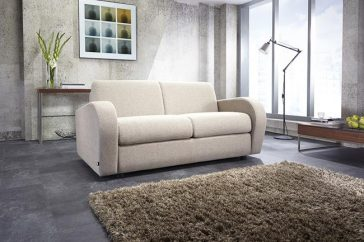 JAYBE SOFA BED Retro 2 Seater – Sofa From Angle at Just British Sofas