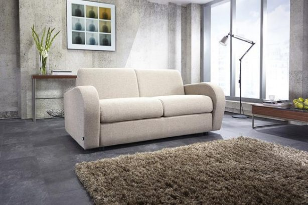 JAYBE SOFA BED Retro 2 Seater - Sofa From Angle at Just British Sofas