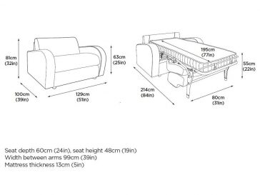 The M3 sofa bed at Just British Sofas Chair version 1