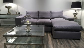 Melody special edition chaise sofa at Just British sofas