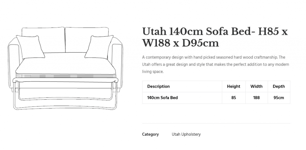 Utah-Sofa-Bed-line drawing large