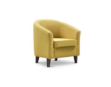 JAYBE CURVE SOFAS NEW Curve Tub Chair Mustard - Angle at Just British Sofas