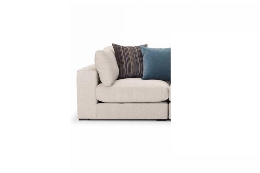 Modbury-Sectional-left hand corner unit-in-Ancona-fabric-in-cream