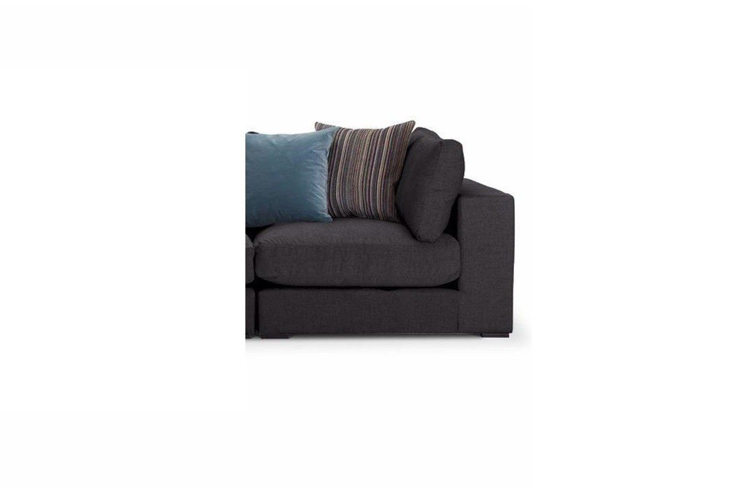 Modbury-Sectional-right hand corner unit-Ancona-fabric-in-ebony