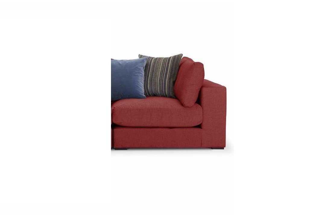 Modbury-Sectional-right hand corner unit-Ancona-fabric-in-ruby