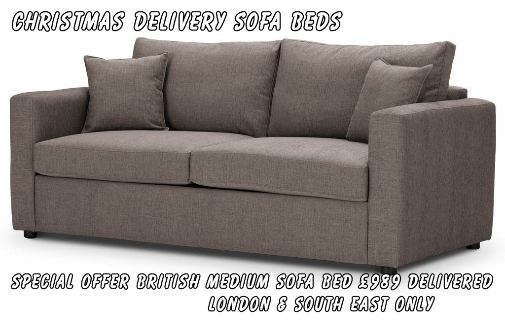 Christmas Delivery Sofa Beds by British Manufacturer Special Offer B