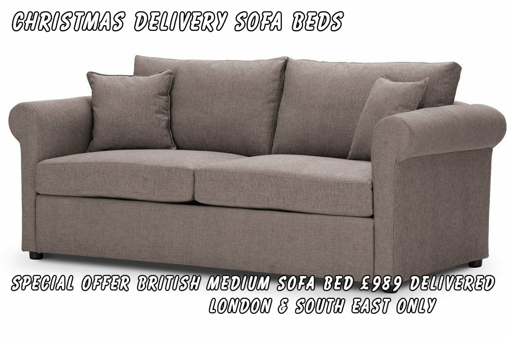 Christmas Delivery Sofa Beds by British Manufacturer Special Offer C