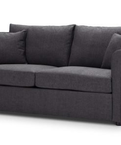 Sofa-bed-special-offer-British-Made-Rounded arms - Medium-sofa-bed-Colour-Charcoal-1