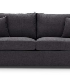 Sofa-bed-special-offer-British-Made-Rounded arms - Medium-sofa-bed-Colour-Charcoal-2