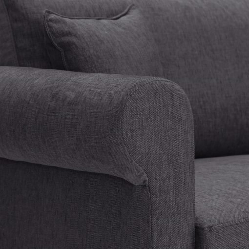 Sofa-bed-special-offer-British-Made-Rounded arms - Medium-sofa-bed-Colour-Charcoal-4