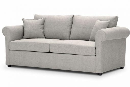 Sofa-bed-special-offer-British-Made-Rounded arms - Medium-sofa-bed-Colour-Cream-1