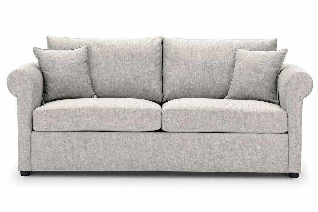 Sofa-bed-special-offer-British-Made-Rounded arms - Medium-sofa-bed-Colour-Cream-2