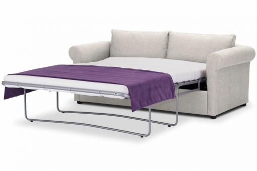 Sofa-bed-special-offer-British-Made-Rounded arms - Medium-sofa-bed-Colour-Cream-3