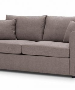 Sofa-bed-special-offer-British-Made-Rounded arms - Medium-sofa-bed-Colour-Mink-1