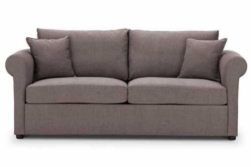 Sofa-bed-special-offer-British-Made-Rounded arms - Medium-sofa-bed-Colour-Mink-2