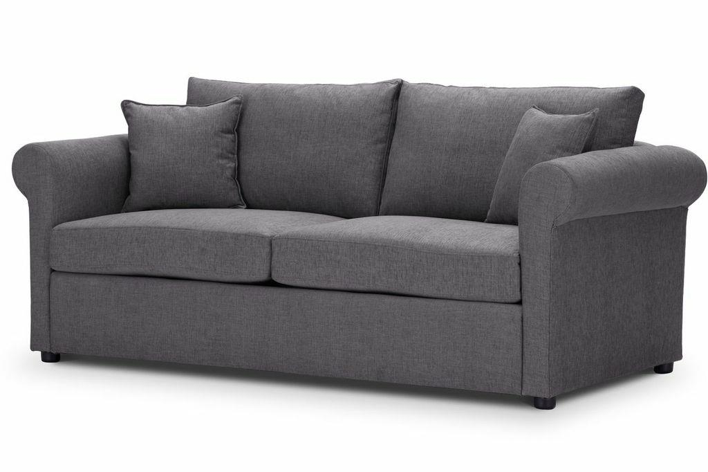 Sofa-bed-special-offer-British-Made-Rounded arms - Medium-sofa-bed-Colour-Steel-1