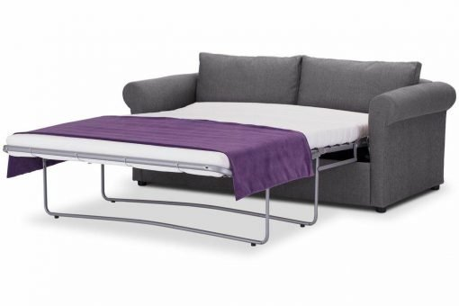 Sofa-bed-special-offer-British-Made-Rounded arms - Medium-sofa-bed-Colour-Steel-3