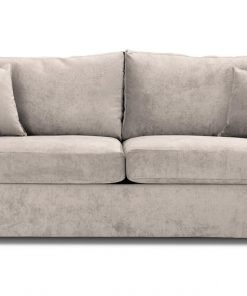 Special Offer Medium Sofa Bed with Flared Arms finished in Cream 3 Danza Fabric
